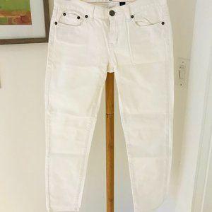 J.Crew White Stretch Jean